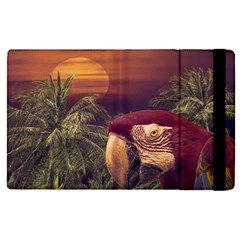 Tropical Style Collage Design Poster Apple iPad Pro 12.9   Flip Case