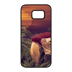 Tropical Style Collage Design Poster Samsung Galaxy S7 edge Black Seamless Case