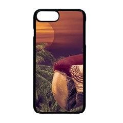 Tropical Style Collage Design Poster Apple iPhone 7 Plus Seamless Case (Black)