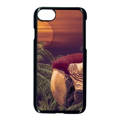 Tropical Style Collage Design Poster Apple iPhone 7 Seamless Case (Black)