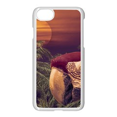 Tropical Style Collage Design Poster Apple iPhone 7 Seamless Case (White)