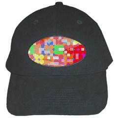Abstract Polka Dot Pattern Black Cap