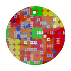Abstract Polka Dot Pattern Ornament (round)