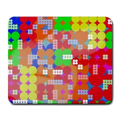 Abstract Polka Dot Pattern Large Mousepads