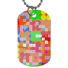 Abstract Polka Dot Pattern Dog Tag (One Side)