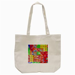 Abstract Polka Dot Pattern Tote Bag (Cream)