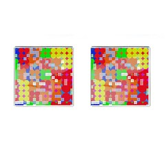 Abstract Polka Dot Pattern Cufflinks (Square)