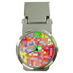 Abstract Polka Dot Pattern Money Clip Watches