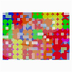 Abstract Polka Dot Pattern Large Glasses Cloth (2 Side)