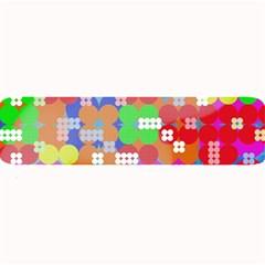 Abstract Polka Dot Pattern Large Bar Mats