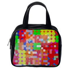Abstract Polka Dot Pattern Classic Handbags (one Side)