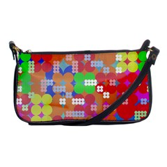 Abstract Polka Dot Pattern Shoulder Clutch Bags