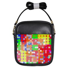 Abstract Polka Dot Pattern Girls Sling Bags