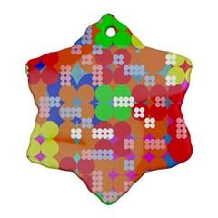 Abstract Polka Dot Pattern Ornament (snowflake)