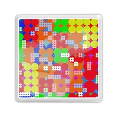 Abstract Polka Dot Pattern Memory Card Reader (square)
