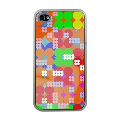 Abstract Polka Dot Pattern Apple Iphone 4 Case (clear)
