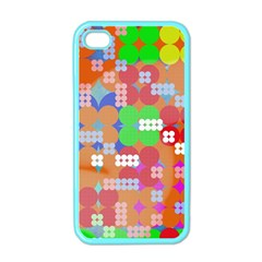 Abstract Polka Dot Pattern Apple Iphone 4 Case (color)