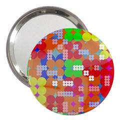 Abstract Polka Dot Pattern 3  Handbag Mirrors