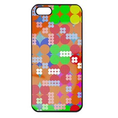 Abstract Polka Dot Pattern Apple Iphone 5 Seamless Case (black)