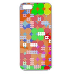 Abstract Polka Dot Pattern Apple Seamless iPhone 5 Case (Clear)