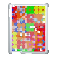 Abstract Polka Dot Pattern Apple iPad 3/4 Case (White)