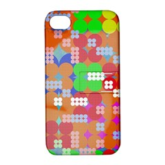 Abstract Polka Dot Pattern Apple iPhone 4/4S Hardshell Case with Stand