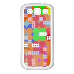 Abstract Polka Dot Pattern Samsung Galaxy S3 Back Case (White)
