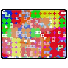 Abstract Polka Dot Pattern Double Sided Fleece Blanket (Large)