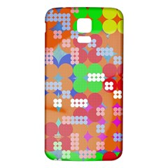 Abstract Polka Dot Pattern Samsung Galaxy S5 Back Case (white)