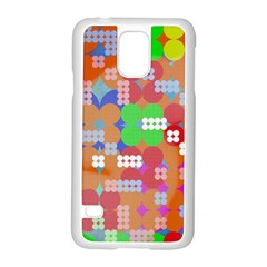 Abstract Polka Dot Pattern Samsung Galaxy S5 Case (White)