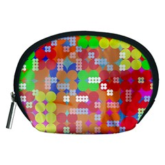 Abstract Polka Dot Pattern Accessory Pouches (Medium)