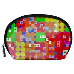 Abstract Polka Dot Pattern Accessory Pouches (large)