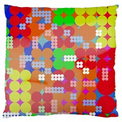 Abstract Polka Dot Pattern Large Flano Cushion Case (Two Sides)
