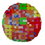 Abstract Polka Dot Pattern Large 18  Premium Flano Round Cushions Front