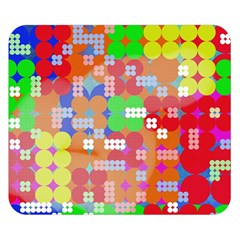 Abstract Polka Dot Pattern Double Sided Flano Blanket (small)