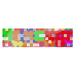Abstract Polka Dot Pattern Satin Scarf (Oblong)