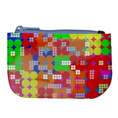 Abstract Polka Dot Pattern Large Coin Purse