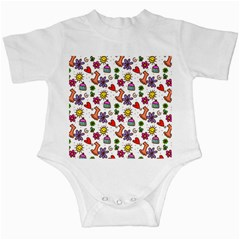 Cute Doodle Wallpaper Pattern Infant Creepers