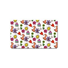 Cute Doodle Wallpaper Pattern Magnet (name Card)