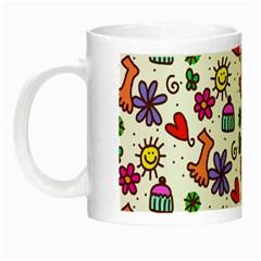 Cute Doodle Wallpaper Pattern Night Luminous Mugs