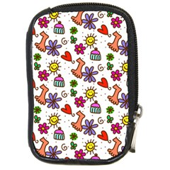 Cute Doodle Wallpaper Pattern Compact Camera Cases