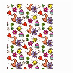 Cute Doodle Wallpaper Pattern Small Garden Flag (two Sides)