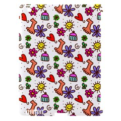 Cute Doodle Wallpaper Pattern Apple iPad 3/4 Hardshell Case (Compatible with Smart Cover)
