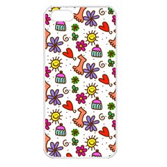 Cute Doodle Wallpaper Pattern Apple iPhone 5 Seamless Case (White)