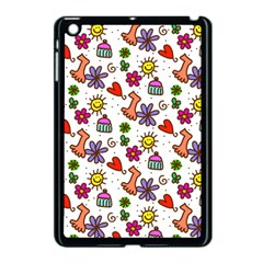 Cute Doodle Wallpaper Pattern Apple iPad Mini Case (Black)