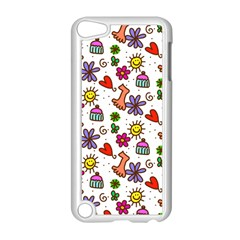 Cute Doodle Wallpaper Pattern Apple iPod Touch 5 Case (White)
