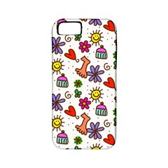 Cute Doodle Wallpaper Pattern Apple iPhone 5 Classic Hardshell Case (PC+Silicone)
