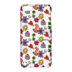 Cute Doodle Wallpaper Pattern Apple Ipod Touch 5 Hardshell Case With Stand