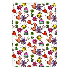 Cute Doodle Wallpaper Pattern Flap Covers (l)