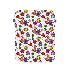 Cute Doodle Wallpaper Pattern Apple Ipad 2/3/4 Protective Soft Cases